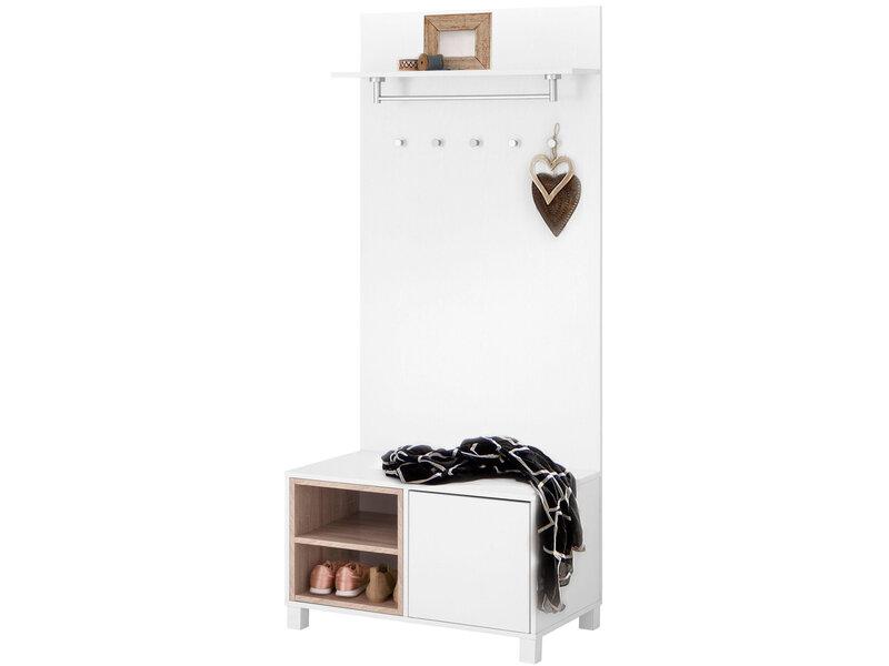 Комплект для прихожей Notio Living Paco, белый/цвета дуба интернет-магазин