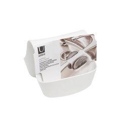Divpusējs sūkļu turētājs Umbra Saddle, balts cena un informācija | Virtuves piederumi | 220.lv