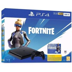 Sony PlayStation 4 (PS4) Slim, 500 GB + Fortnite Neo Versa + 2 vadības pultis
