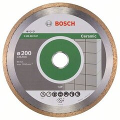 Dimanta disks Bosch Standard For Ceramic 200x25,4mm cena un informācija | Dimanta disks Bosch Standard For Ceramic 200x25,4mm | 220.lv