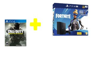 Sony PlayStation 4 (PS4) Pro, 1 TB + Fortnite Neo Versa + Call of Duty Infinite Warfare Legacy Edition