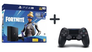Sony PlayStation 4 (PS4) Pro, 1 TB + Fortnite Neo Versa + Papildu pults