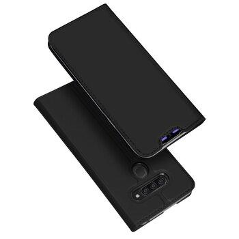 DUX DUCIS Skin Pro Atverams maciņš telefonam LG Q60, Melns
