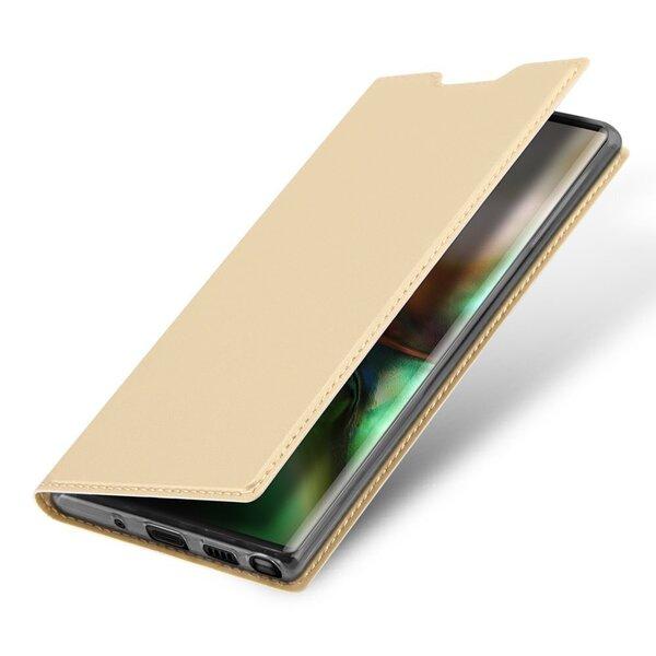 DUX DUCIS Skin Pro Atveramais maciņš telefonam Samsung Galaxy Note 10, Zelta atsauksme