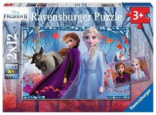 Puzle Ravensburger Ledus sirds 2 (Frozen 2) Ceļojums uz nezināmo, 2x12 d., 5009 cena un informācija | Puzle Ravensburger Ledus sirds 2 (Frozen 2) Ceļojums uz nezināmo, 2x12 d., 5009 | 220.lv