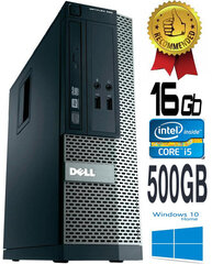 Dell Optiplex 390 i5-2400 16GB 500GB DVDRW Windows 10 Dators cena un informācija | Dell Optiplex 390 i5-2400 16GB 500GB DVDRW Windows 10 Dators | 220.lv