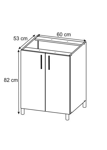 Virtuves skapītis Lupus Luna 2D 60 cm, gaiši brūns cena