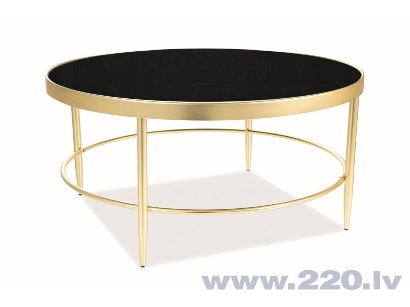 Kafijas galdiņš Signal Meble Mystic B, 82x82 cm, melns/zelta krāsas