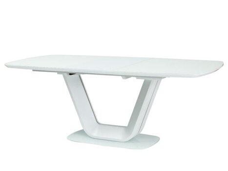 Paplašināms galds Signal Meble Armani, balts cena un informācija | Virtuves un pusdienu galdi | 220.lv