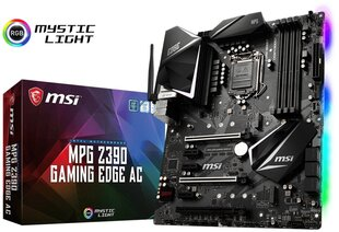 MSI Gaming MPG Z390 GAMING EDGE AC Motherboard PC base Intel® 1151v2 Form factor ATX Motherboard chipset Intel® Z390 cena un informācija | Mātesplates | 220.lv