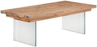 Kafijas galdiņš Notio Living Margaret 120, gaiši brūns cena un informācija | Žurnālgaldiņi | 220.lv