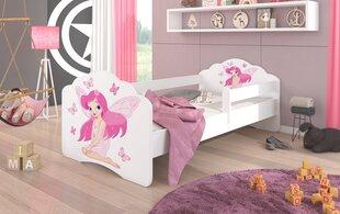 Bērnu gulta ar noņemamu aizsargu ADRK Furniture Casimo Girl with Wings, 70x140 cm cena un informācija   Bērnu gultas   220.lv
