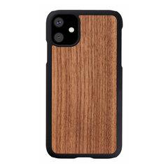 MAN&WOOD SmartPhone case iPhone 11 black walnut black cena un informācija | Maciņi, somiņas | 220.lv