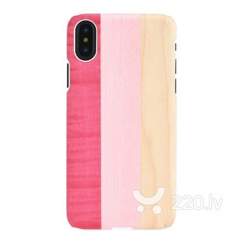 MAN&WOOD SmartPhone case iPhone X/XS pink pie white