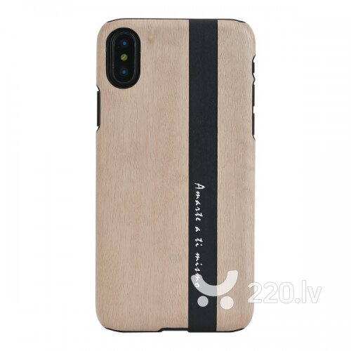 MAN&WOOD SmartPhone case iPhone X/XS diario black