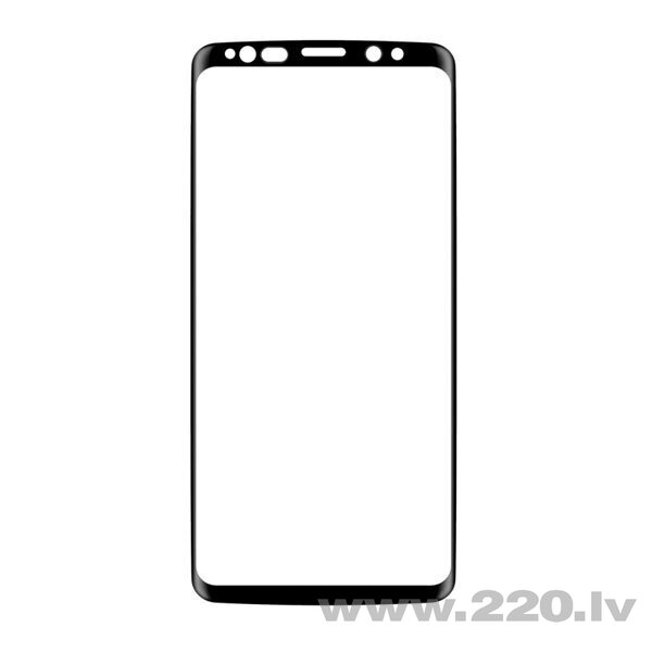 Devia 3D Curved Tempered Glass Seamless Full Screen Protector for Samsung Galaxy S9 black