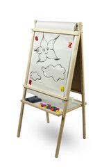 Divpusēja magnētiskā zīmēšanas tāfele ar papīra rulli 3toysm, MPP cena un informācija | Zinātniskās un attīstošās spēles, komplekti radošiem darbiem | 220.lv