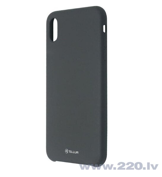 Tellur Cover Liquide Silicone for iPhone XS MAX black cena