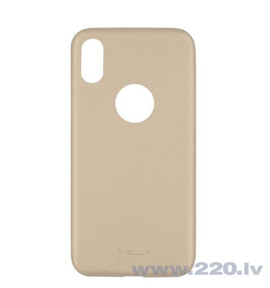 Tellur Cover Slim Synthetic Leather for iPhone X/XS gold