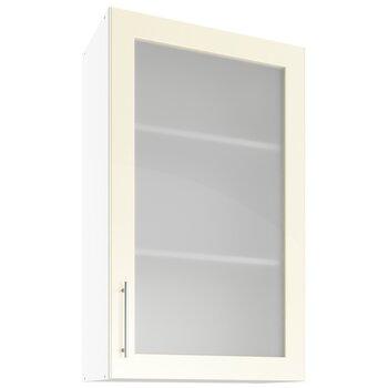 Sienas vitrīna skapītis Lupus Luna Max 1D 60 cm, krēmkrāsas cena un informācija | Virtuves skapīši | 220.lv