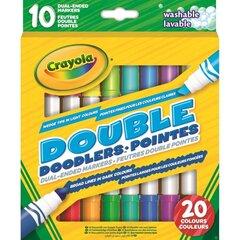Divpusēji flomāsteri Crayola 10 gab cena un informācija | Modelēšanas un gleznošanas piederumi | 220.lv