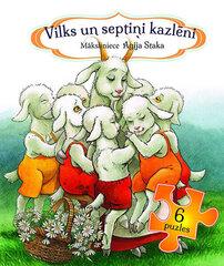 Vilks un 7 kazlēni 6 puzles / Agita Staka cena un informācija | Grāmatas mazuļiem | 220.lv