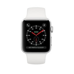 Apple Watch S3 + Cellular, 38 мм, White/Silver Aluminum цена и информация | Смарт-часы (smartwatch) | 220.lv