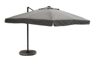 Āra lietussargs 4living De Luxe, pelēks cena un informācija | Saulessargi, marķīzes un statīvi | 220.lv