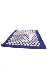 Masāžas akupunktūras paklājs Mat RELAX zils, 55x40 cena un informācija | Masāžas piederumi | 220.lv