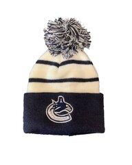 NHL Vancouver Canucks Retro Toque Bērnu Ziemas Cepure, Balta/Tumši zila cena un informācija | Vīriešu cepures, šalles, cimdi | 220.lv