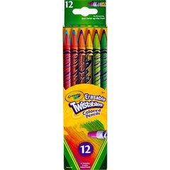 Krāsaini zīmuļi-krītiņi Crayola, 12 gab. cena un informācija | Modelēšanas un gleznošanas piederumi | 220.lv
