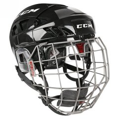 CCM Fitlite 80 Hokeja Ķivere, Combo, Melna cena un informācija | Hokejs | 220.lv