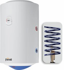 Kombinēts ūdens sildītājs Ferroli CALYPSO MT 150, vertikāls, 6 spirāles cena un informācija | Kombinēts ūdens sildītājs Ferroli CALYPSO MT 150, vertikāls, 6 spirāles | 220.lv