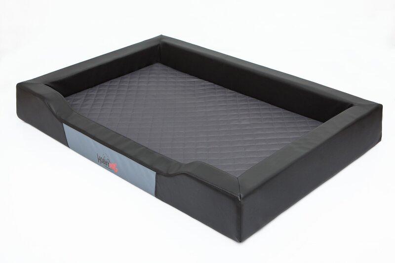 Hobbydog guļvieta Deluxe XXL, melna/pelēka, 120x80 cm internetā
