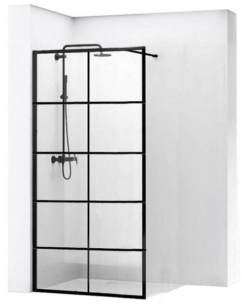 Dušas sieniņa Rea Bler I, Black Mat 70, 80, 90, 100, 110, 120x195cm