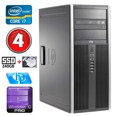 HP 8100 Elite MT i7-860 4GB 240SSD+1TB NVS450 DVD WIN10Pro