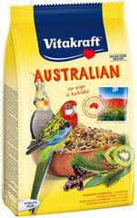 Vitakraft vidēju papagaiļu barība ar eikaliptu Australian, 750 g cena un informācija | Putniem | 220.lv