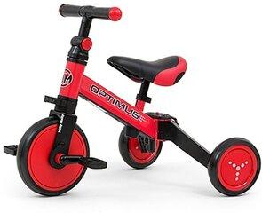Trīsritenis-balansa velosipēds Milly Mally Optimus 3in1, red cena un informācija | Balansa velosipēdi | 220.lv