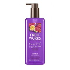 Šķidrās roku ziepes Grace Cole Fruit Works Marakuja & Watermelon 500 ml