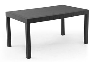 Galds NORE Britta 150x90cm, melns cena un informācija | Dārza galdi | 220.lv