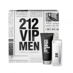 Komplekts Carolina Herrera 212 VIP Men: edt 100 ml + dušas želeja 100 ml