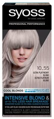 Matu krāsa SYOSS COLOR 10-55 Ultra Platīnblonds цена и информация | Краска для волос | 220.lv