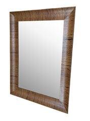 Spogulis Tortosa 50x60 cm, brūns cena un informācija | Spoguļi | 220.lv