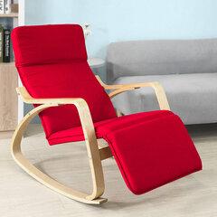 Šūpuļkrēsls SoBuy FST16-R, sarkans/brūns cena un informācija | Atpūtas krēsli | 220.lv