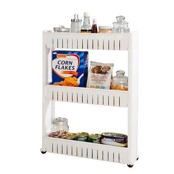 Virtuves skapītis uz ritentiņiem SoBuy FRG40-N, balts cena un informācija | Virtuves skapīši | 220.lv