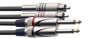 Audio kabelis Stagg 2 x 6.35mm Jack TRS - 2 x RCA 1.5m cena un informācija | Audio kabelis Stagg 2 x 6.35mm Jack TRS - 2 x RCA 1.5m | 220.lv