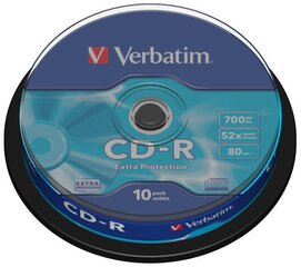 CD-R 700MB 52x Extraprotection, 10 gab. cena un informācija | CD-R 700MB 52x Extraprotection, 10 gab. | 220.lv