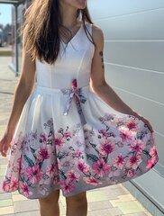 Balta kleita ar ziediem cena un informācija | Kleitas | 220.lv