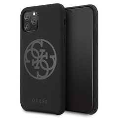 Guess GUHCN58LS4GBK iPhone 11 Pro black hard case Silicone 4G Tone On Tone (Black) cena un informācija | Guess GUHCN58LS4GBK iPhone 11 Pro black hard case Silicone 4G Tone On Tone (Black) | 220.lv