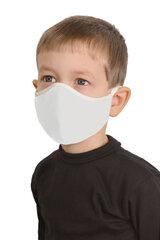 Atkārtoti lietojama sejas maska (2 gab.) 1020/K Ergo, piena krāsa ar reljefu, bērnu cena un informācija | Atkārtoti lietojama sejas maska (2 gab.) 1020/K Ergo, piena krāsa ar reljefu, bērnu | 220.lv